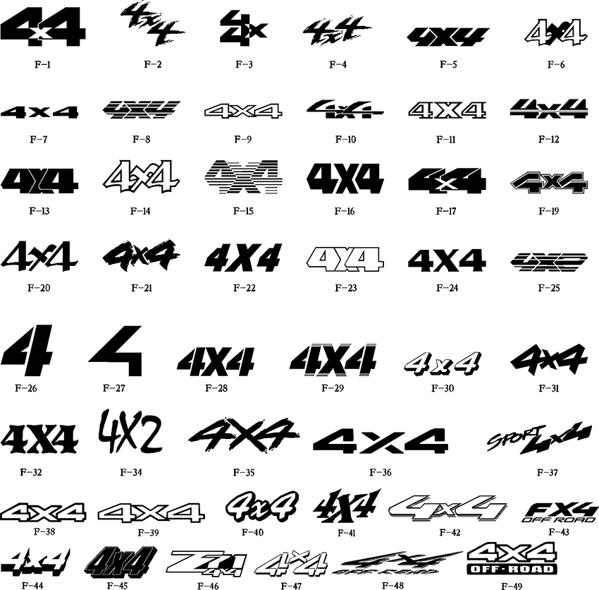 4x4 Decals For Chevy Trucks | Autos Post